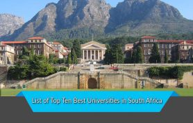 List of Top Ten Best Universities in South Africa